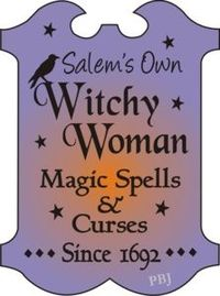F33 Stencil Witchy Woman Salem's Own Magic Spells Curses since 1692 Crow