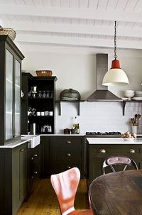 olive green cabinets