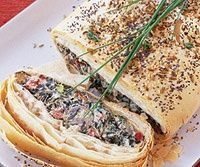 Newly available whole-wheat phyllo dough lends a wholesome, nutty taste and golden color to the finished strudel. Veganizing this recipe is a snap too--simply substitute vegan cream cheese and vegan Cheddar cheese.