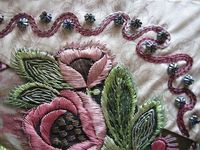 I � crazy quilting . . . TAST #8. Chain Stitch. By Margreet from Holland