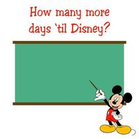 Simple count down. Throw it in a frame and write the number with dry erase.