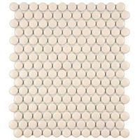 Metro Penny Matte Biscuit 11-1/2 in. x 9-7/8 in. Porcelain Mosaic Floor and Wall Tile Home Depot