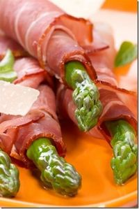 Asparagus in Proscuitto....