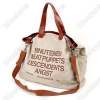 Hot Pop Fever Spot Oversized English Letters Dual-purpose Canvas Bag Leisure Package Shoulderbag