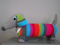 crocheted doxie