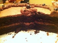 Black Magic Cake (Best Chocolate Cake Ever!) with frosting recipe also.