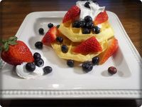 Belgian Waffles With Fresh Fruit & Cool Whip