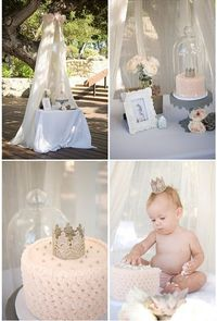 Sweet and simple first birthday ideas.....could also be used for other parties!