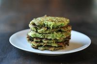 Zucchini Pancakes. Make mini versions topped with cheese?