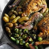 Skillet Roasted Game Hens by mymansbelly: Dinner for two in an hour! #Game Hen