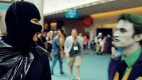 Disgraceful Batman - This was the best Joker cosplayer at SDCC2012 and that was the WORST BATMAN COSPLAYER... ever..