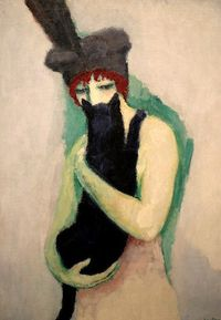 Woman with Cat. Kees van Dongen, 1908. Milwaukee Art Museum.