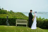 Wedding with a Bermuda view. Fairmont Southampton.   Howarth Photography.