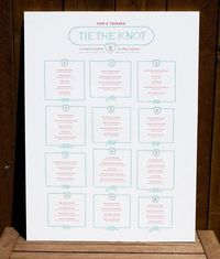 Day-Of Wedding Stationery Inspiration and Ideas: Seating Charts via Oh So Beautiful Paper (12)