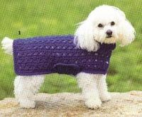 Free Crochet Cross Stitch Dog Sweater Pattern