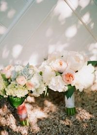 Pale Pink Wedding Day Bouquet