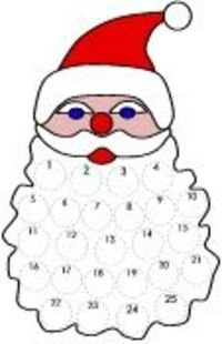 This is a great countdown to Christmas!!! Santa Claus Craft | Advent Calendar | Christmas | Preschool Lesson Plan Printable Activities