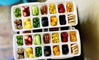 use ice trays for portion control/snack size fun