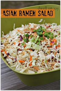 Dwell on Joy: Asian Ramen Salad? - Click image to find more popular food & drink Pinterest pins