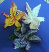 -Crochet ORCHID in 3D PaternTutorial in PDF format by biancastouch