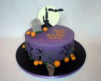 #cake 21st Birthday Halloween cake
