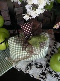 checkered fabric pumpkin
