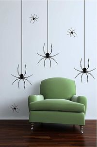 Large and Small Spiders Decorators Pack Halloween Decoration Vinyl Wall Decal Photo Backdrop
