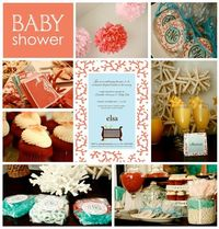 coral baby shower
