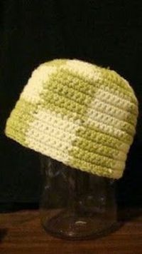Free Crochet Checkered Hat Pattern.