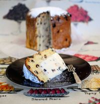 "Ice Cream Panettone with Kirsch Soaked Berries ... a wonderful Christmas dessert from this blog, ""Go Make Me""."