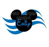 Personalized Cruise Mickey Disney iron on decal vinyl for shirt. $7.00, via Etsy.