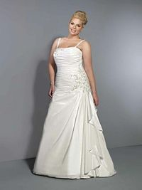 Fancy natural waist taffeta wedding dress