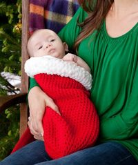 Holiday Baby Cocoon Free Crochet Pattern