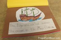 Keep little people busy this week with a Thanksgiving book to make!