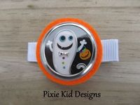 Halloween Ghost Pumpkin Hair Clip Pixie Kid by PixieKidDesigns, $1.50