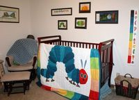 Very Hungry Caterpillar quilt and kid's room decor