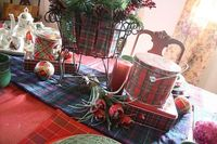 Scottish Check Pattern Table Decoration