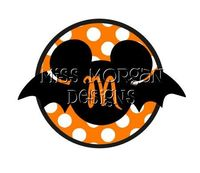 Personalized Halloween Mickey Mouse iron on decal by MissMorgan, $7.00