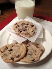Chocolate Chip Cookies made with cream cheese - the blog had other interesting posts, too -postnow read more later