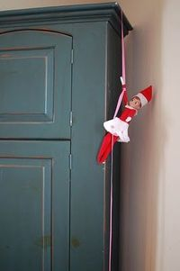 Elf IDea- repelling off the tv...