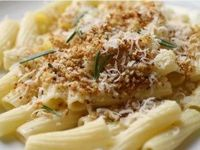 Crunchy Rigatoni with Rosemary, Garlic, and Parmigiano Reggiano