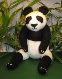 madmonkeyknits Panda Bear Toy pdf knitting pattern from Etsy Shop madmonkeyknits ($3.75)
