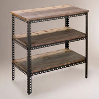 3-Shelf Industrial Metal Shelf