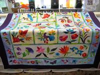 - My friend's applique quilt