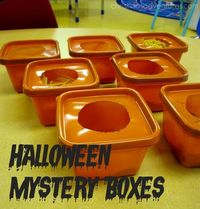 Halloween mystery boxes- I love this!