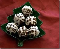 Gingerbread Cookie Dough Truffles.