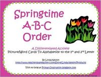 Springtime ABC Order with Picture/Word Cards