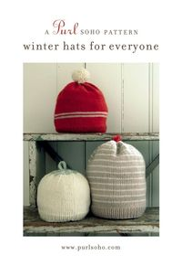 c979b3d7d6a Posts similar to  Winter Hats For Everybody - Pattern from Purl Soho ...