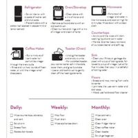 Printable: Kitchen Cleaning Checklist -