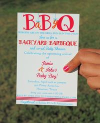 Printable Baby Shower BBQ Invitation